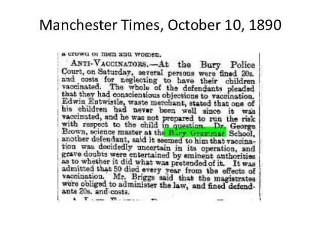 Manchester Times, October 10, 1890