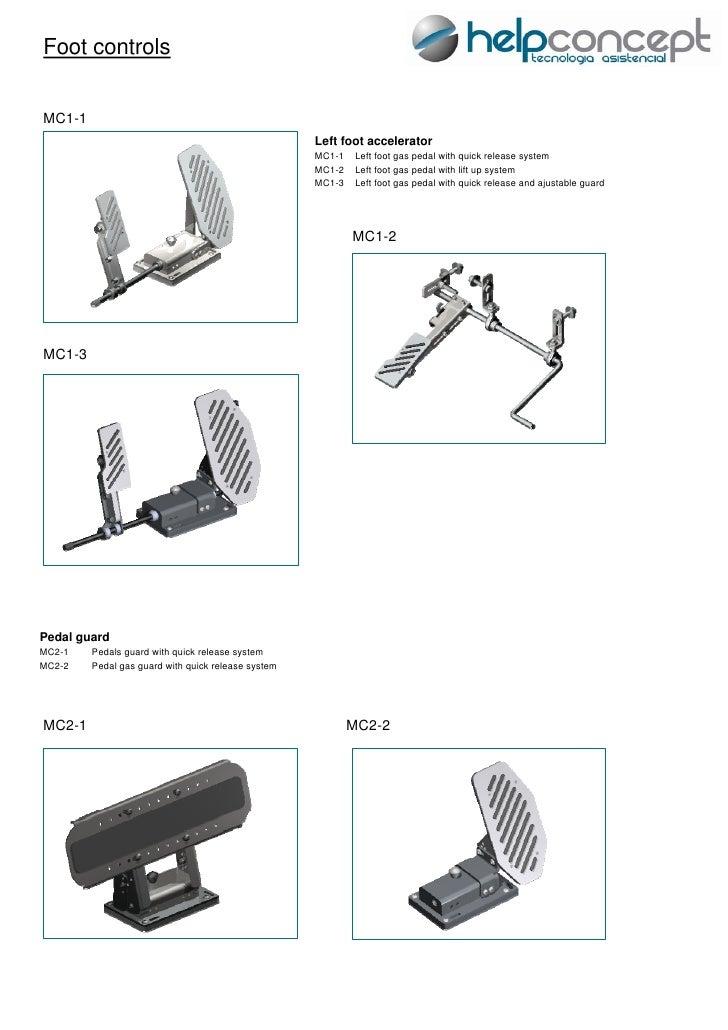 Foot controlsMC1-1                                                    Left foot accelerator                               ...