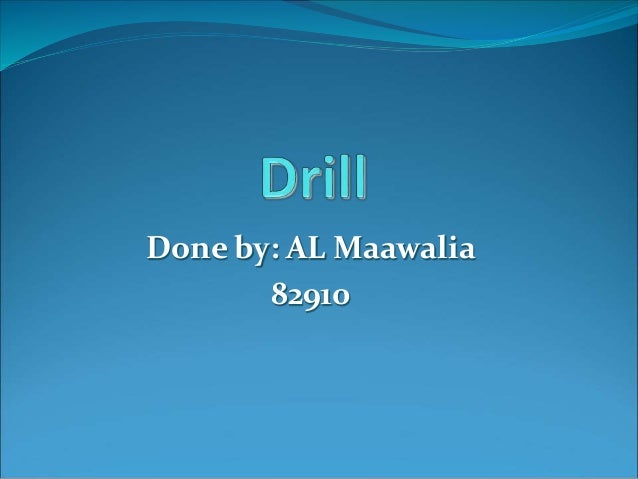 Done by: AL Maawalia 82910