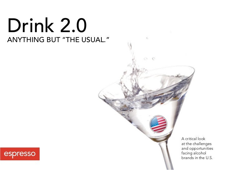 """Drink 2.0 ANYTHING BUT """"THE USUAL.""""                                 A critical look                             at the cha..."""