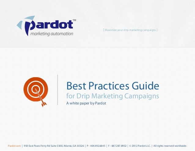 [ Maximize your drip marketing campaigns ]                                                   Best Practices Guide         ...