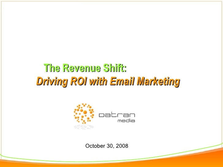 Driving Revenue with Email