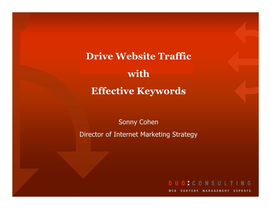 Drive Website Traffic with Effective Keywords