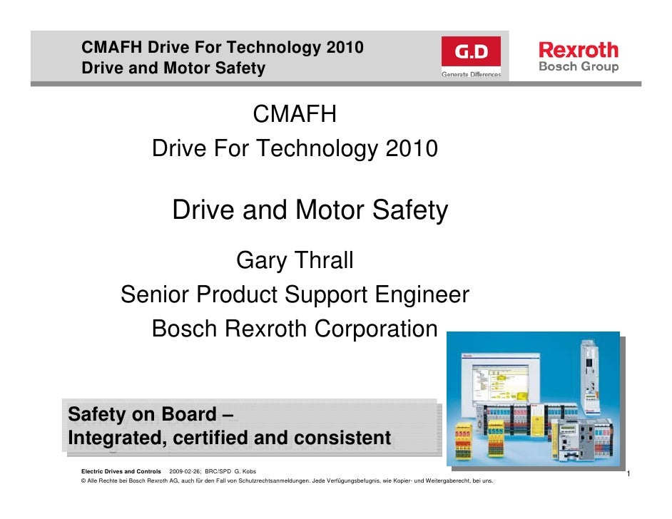 CMAFH Drive For Technology 2010  Drive and Motor Safety                                      CMAFH                        ...
