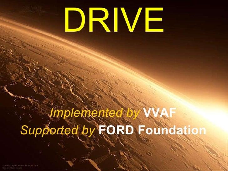 VVAF Presentation on Dioxin Resolution Initiatives in Vietnam (DRIVE) program