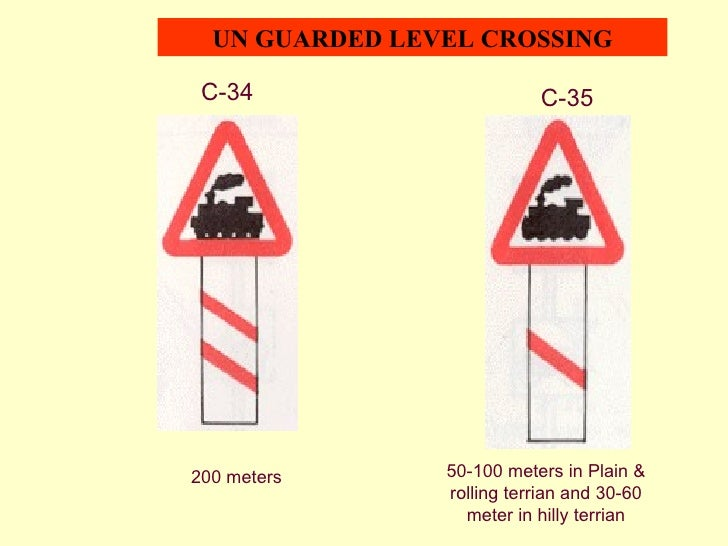 Guarded Level Crossing Sign un Guarded Level Crossing