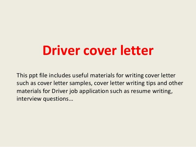 Driver Cover Letter   Airport Driver Cover Letter