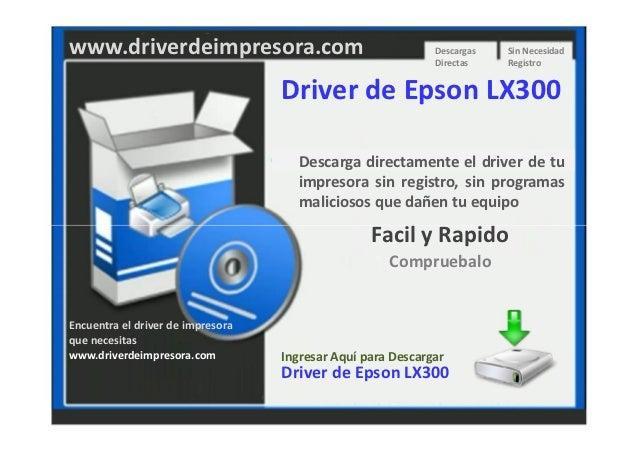 Descargar Driver de Impresora Epson Lx300