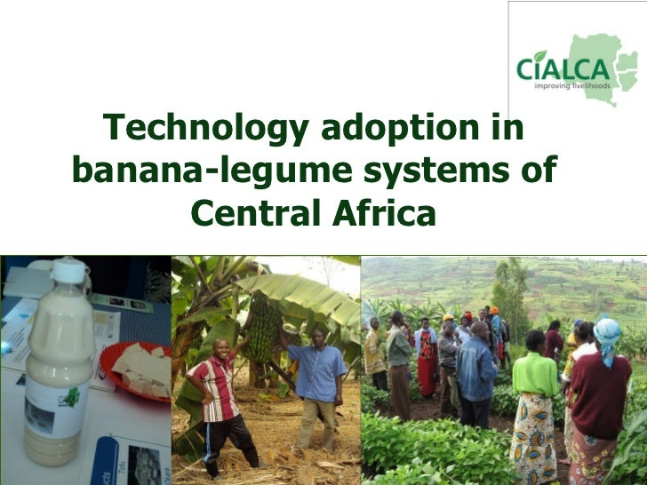 Technology adoption in banana-legume systems of Central Africa