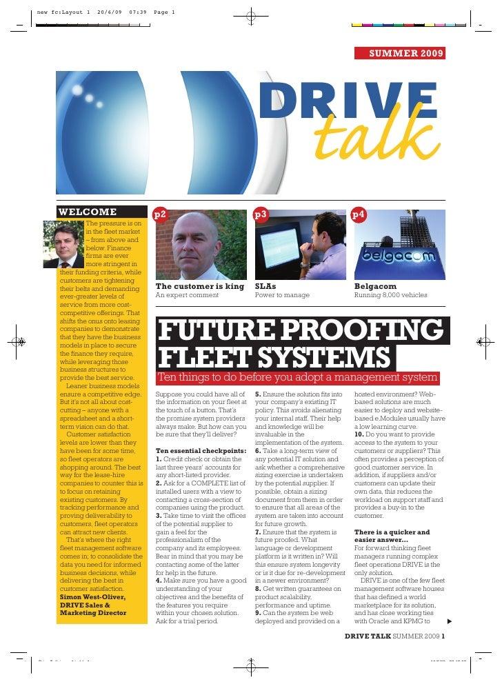 Drive Talk Summer 2009 Pdf