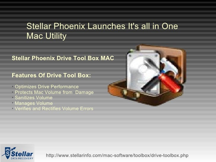 How To Optimize Your Mac Using - Stellar Drive ToolBox Mac