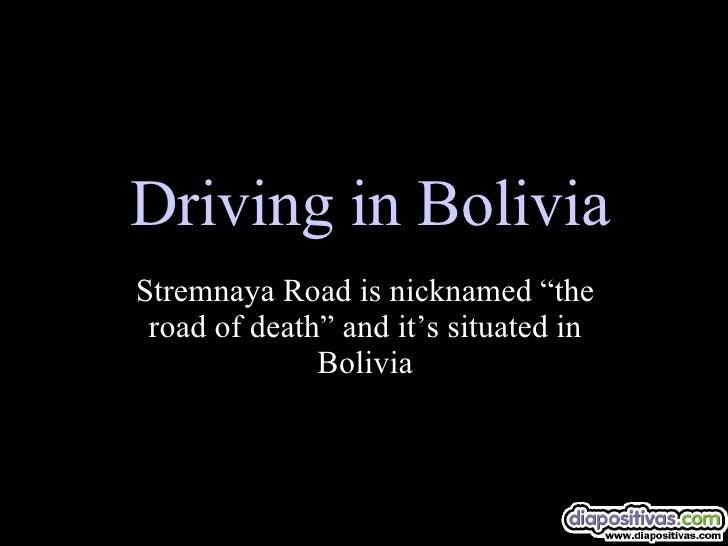 Driving In Bolivia Diapositivas