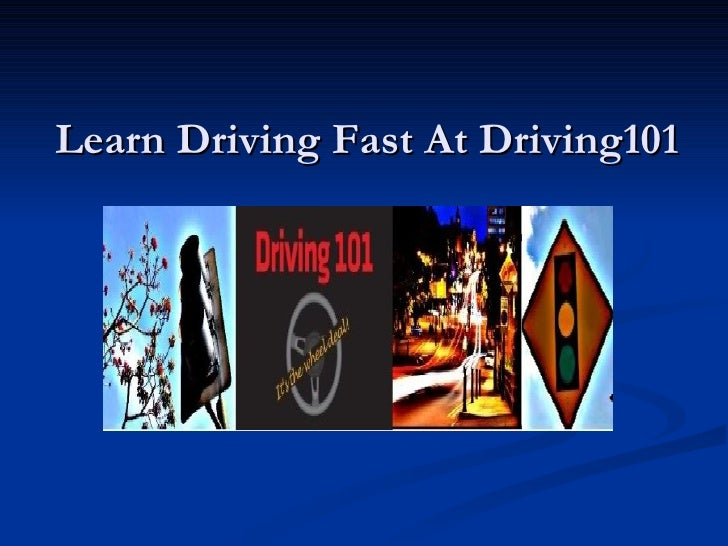 Learn Driving Fast