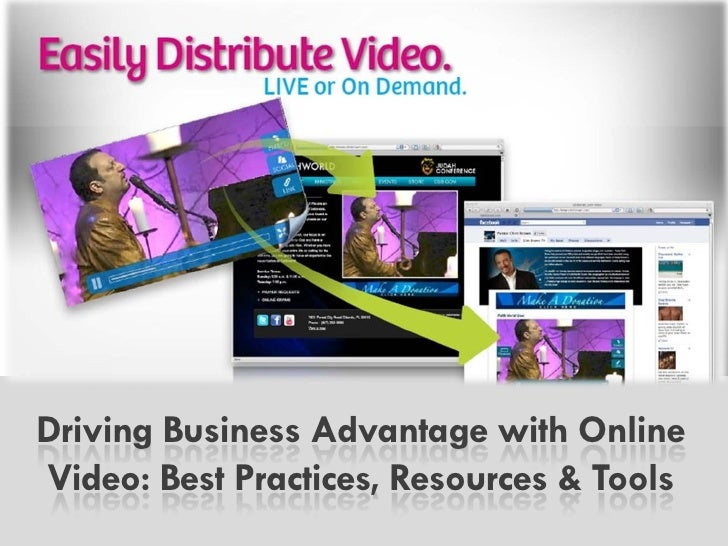 Driving Business Advantage with   Online Video: Best Practices,        Resources & Tools