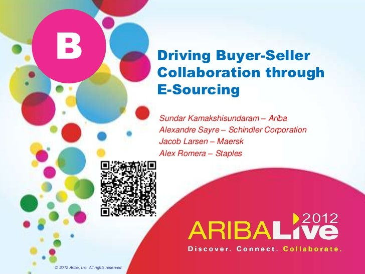 Driving Buyer-Seller Collaboration Through E-Sourcing