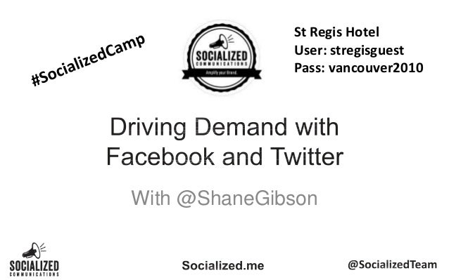 Driving Demand with Facebook and Twitter