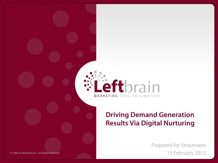 Driving Demand Generation Results via Digital Nurturing