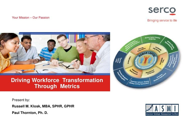 Your Mission – Our Passion<br />Driving Workforce Transformation Through Metrics<br />Present by:<br />Russell M. Klosk, M...