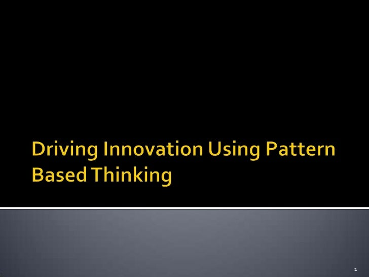 Bug deBug Chennai 2012 Talk - Driving innovation using pattern based thinking by Vipul Kocher