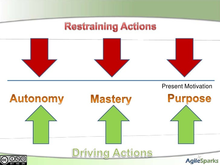 Restraining Actions<br />Present Motivation<br />Purpose<br />Autonomy<br />Mastery<br />Driving Actions<br />