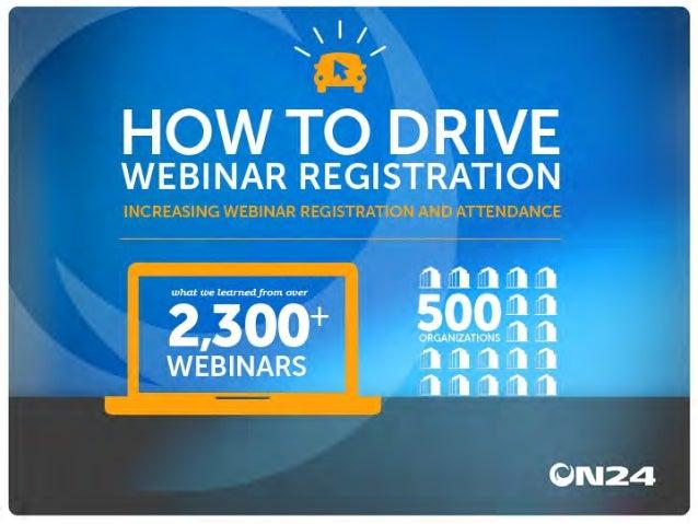 Driving Webinar Registration and Attendance | ON24