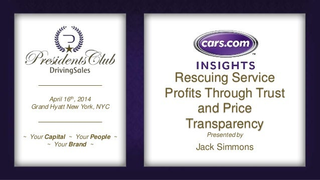 Rescuing Auto Dealership Service Profits Through Trust and Price Transparency