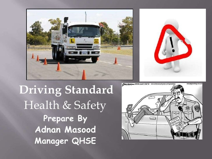 Driving standard health & safety