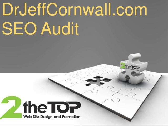 Dr Jeff Cornwall SEO Audit