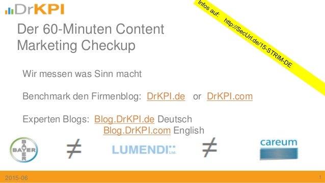 Wir messen was Sinn macht Benchmark den Firmenblog: DrKPI.de or DrKPI.com Experten Blogs: Blog.DrKPI.de Deutsch Blog.DrKPI...