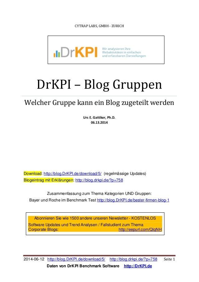 2014-06-12 http://blog.DrKPI.de/download/5/ http://blog.drkpi.de/?p=758 Seite 1 Daten von DrKPI Benchmark Software http://...