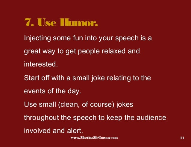 tips for giving a speech What are the causes of wedding speech nerves on the surface, giving a wedding speech really shouldn't be all that stressful.