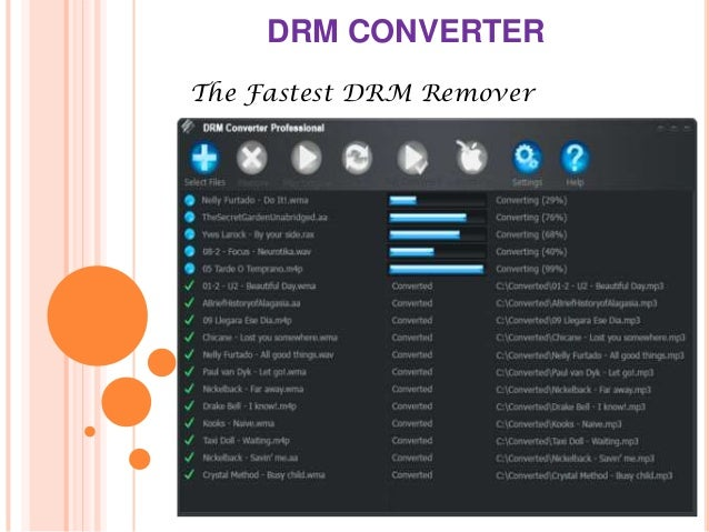 DRM CONVERTER The Fastest DRM Remover
