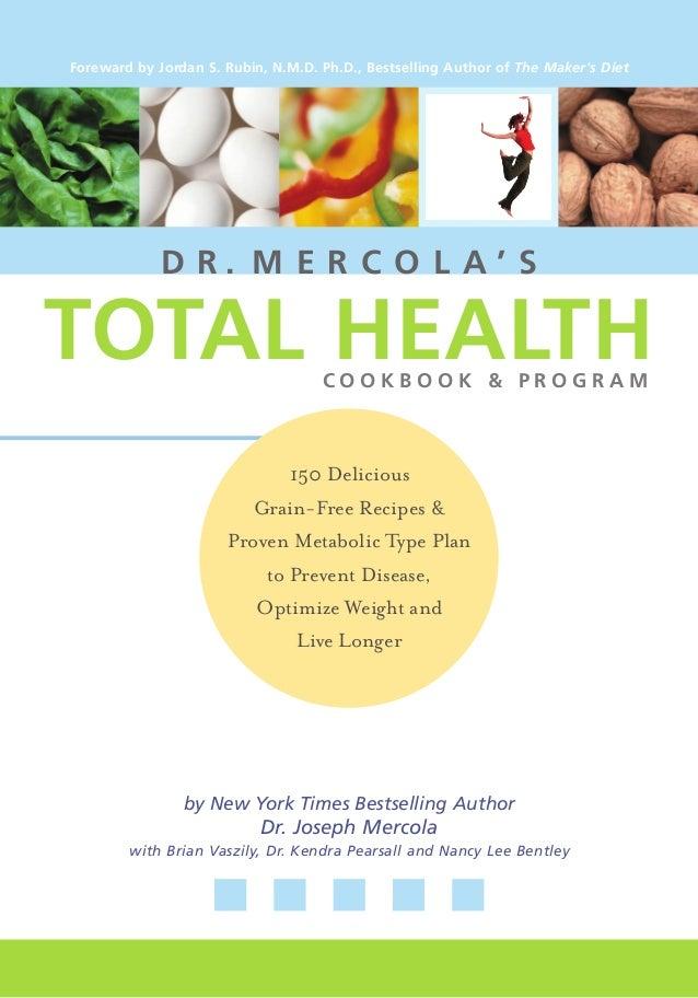 Dr mercola's total health program (healing cure natural diet metabolic typing plants meat milk low grain joseph mercola 2003)
