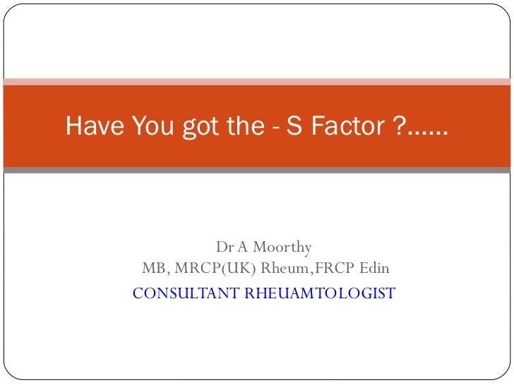 Dr moorthy arthritis awareness clash ppt 2011 2