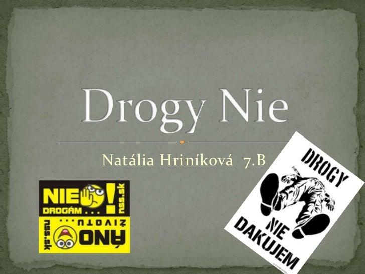 Natália Hriníková 7.B