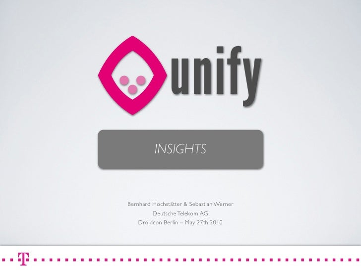 Droidcon - Unify Insights