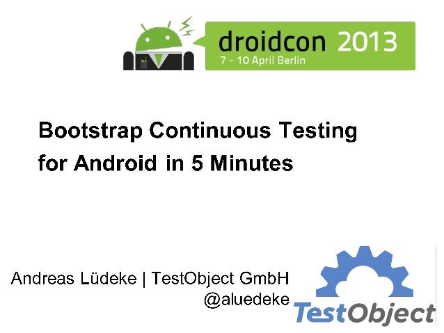 Droidcon2013 bootstrap luedeke