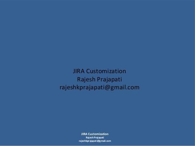 Jira customization