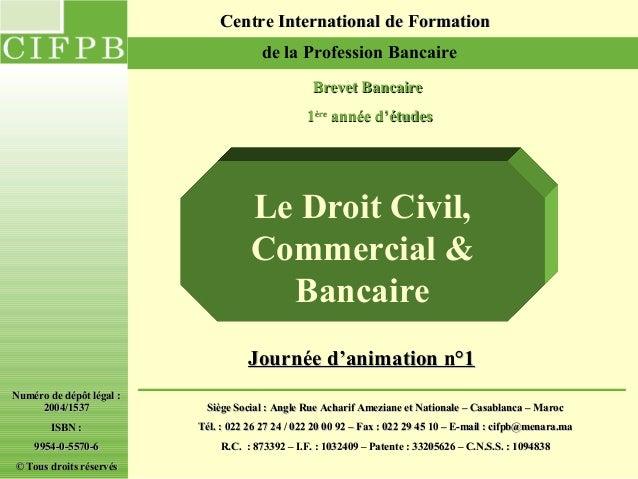 Centre International de Formation                                       de la Profession Bancaire                         ...