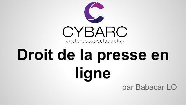 Droit de la presse en ligne par Babacar LO