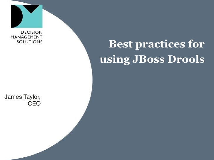Best Practices for JBoss Drools