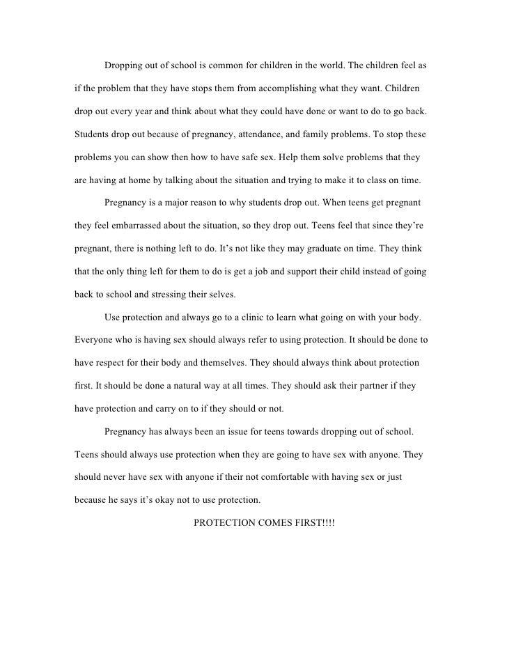 High school dropout essay conclusion