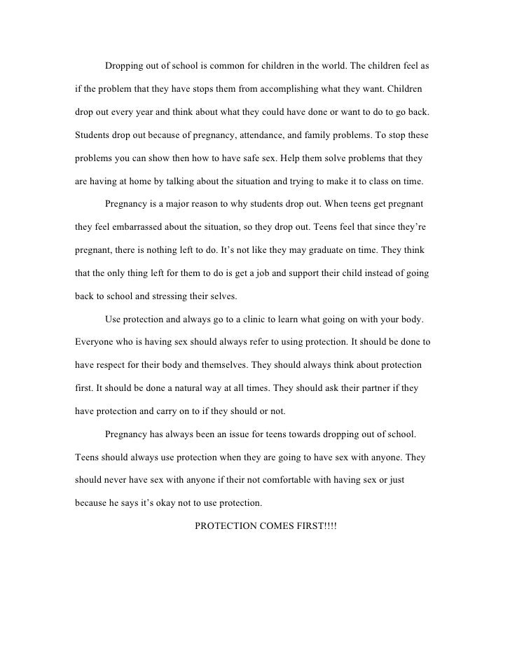 Out of school youth essay