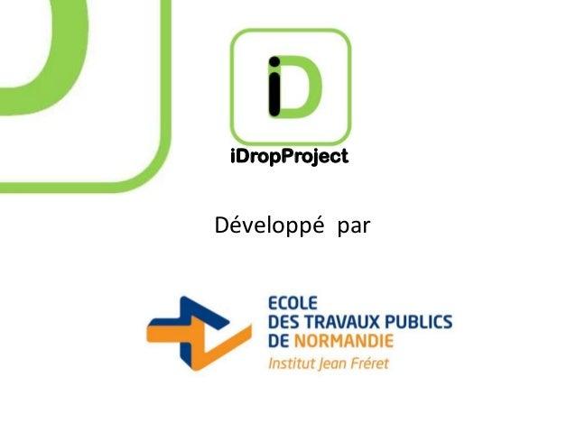 iDropProject  Développé par