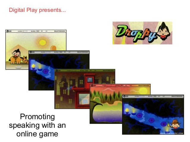 Droppy: Promoting Speaking with an Online Game
