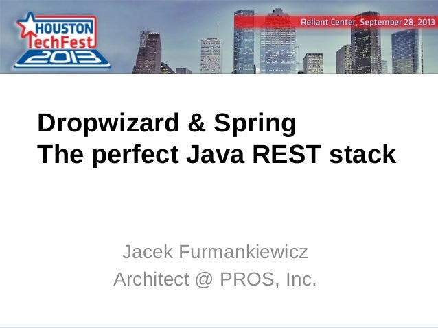 Dropwizard Spring - the perfect Java REST server stack