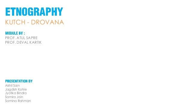 Ethnography - Drovana, Kutchh