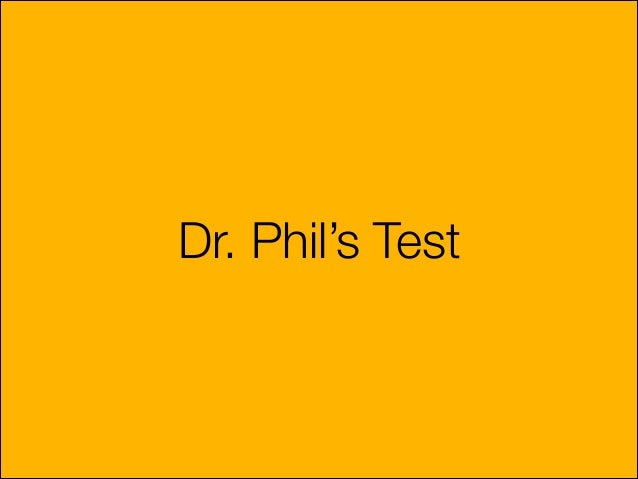 Dr Phil's personality test