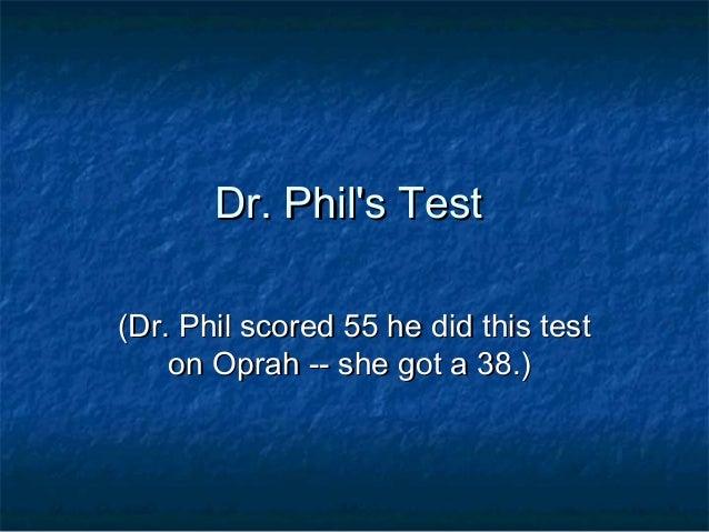 Dr philtest 1