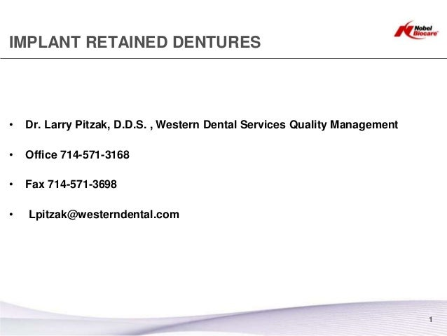 Implant Supported Over Denture By Dr pitzak